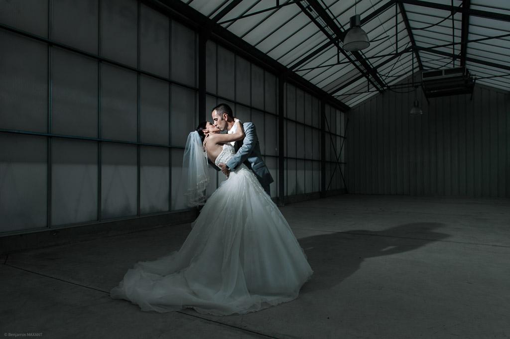 Photo artistique de mariage