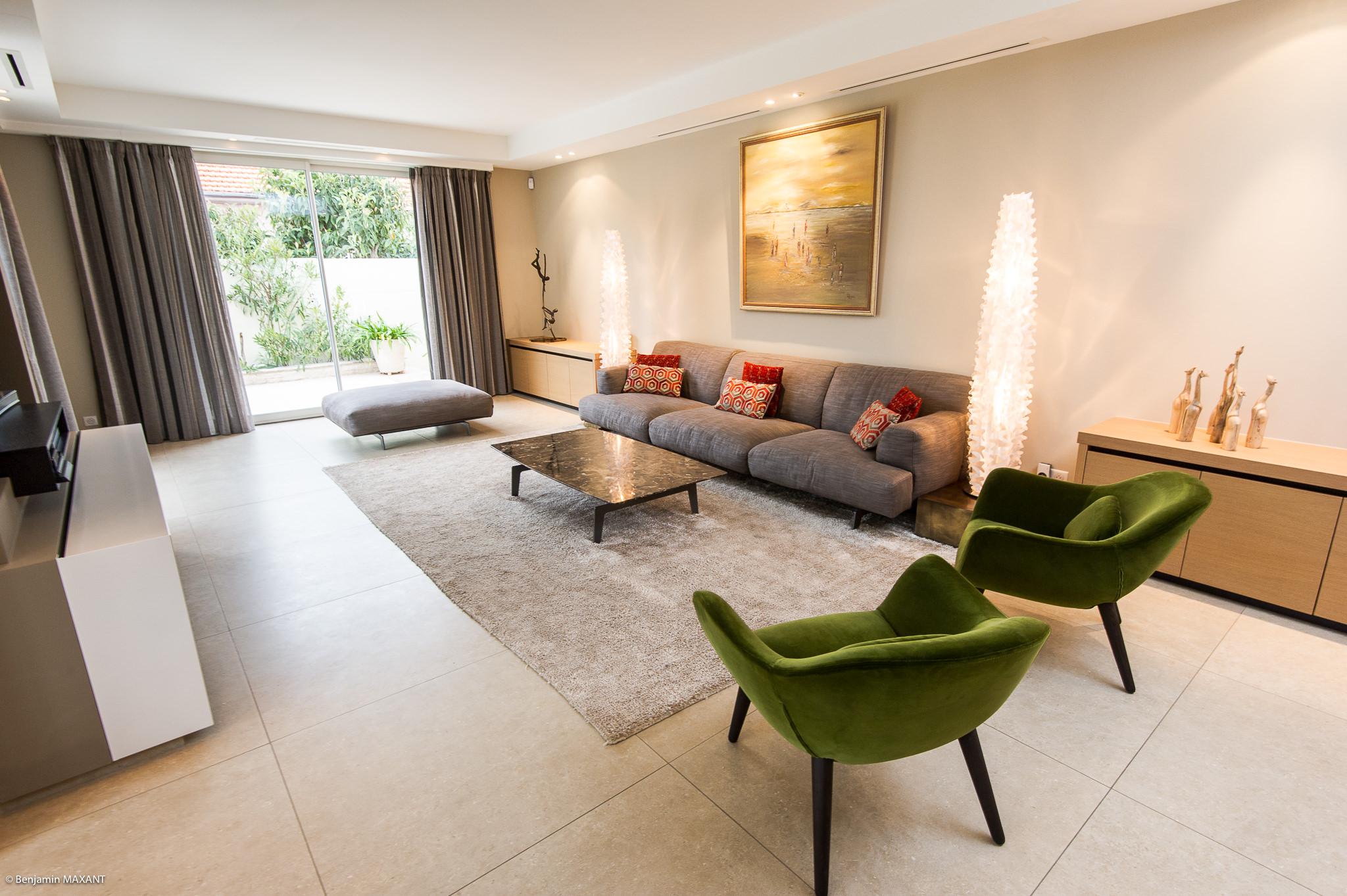 Shooting photo immobilier Côte d'Azur - salon