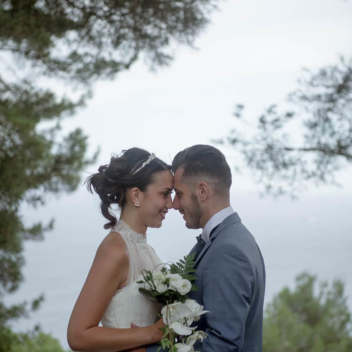 Séance photo des mariés sur la Côte d'Azur