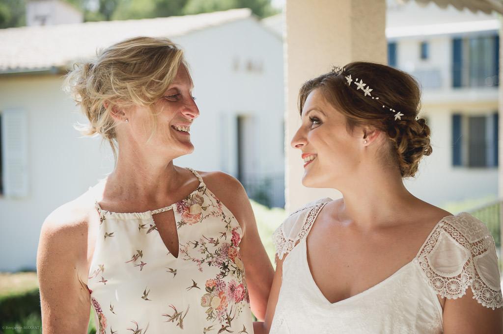 La mariée et sa maman