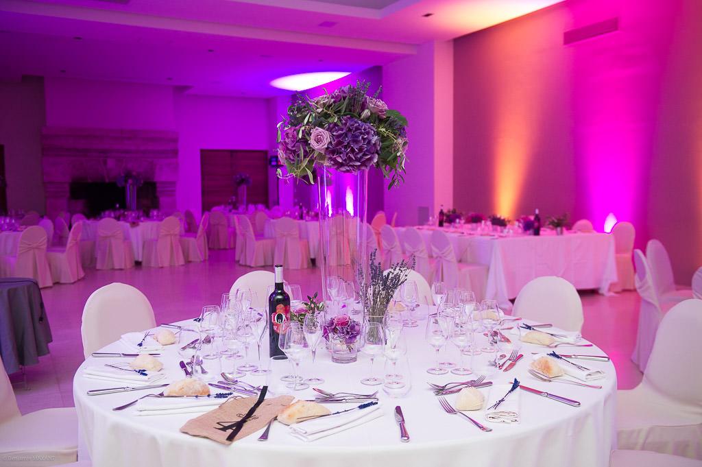 La décoration des tables du mariage