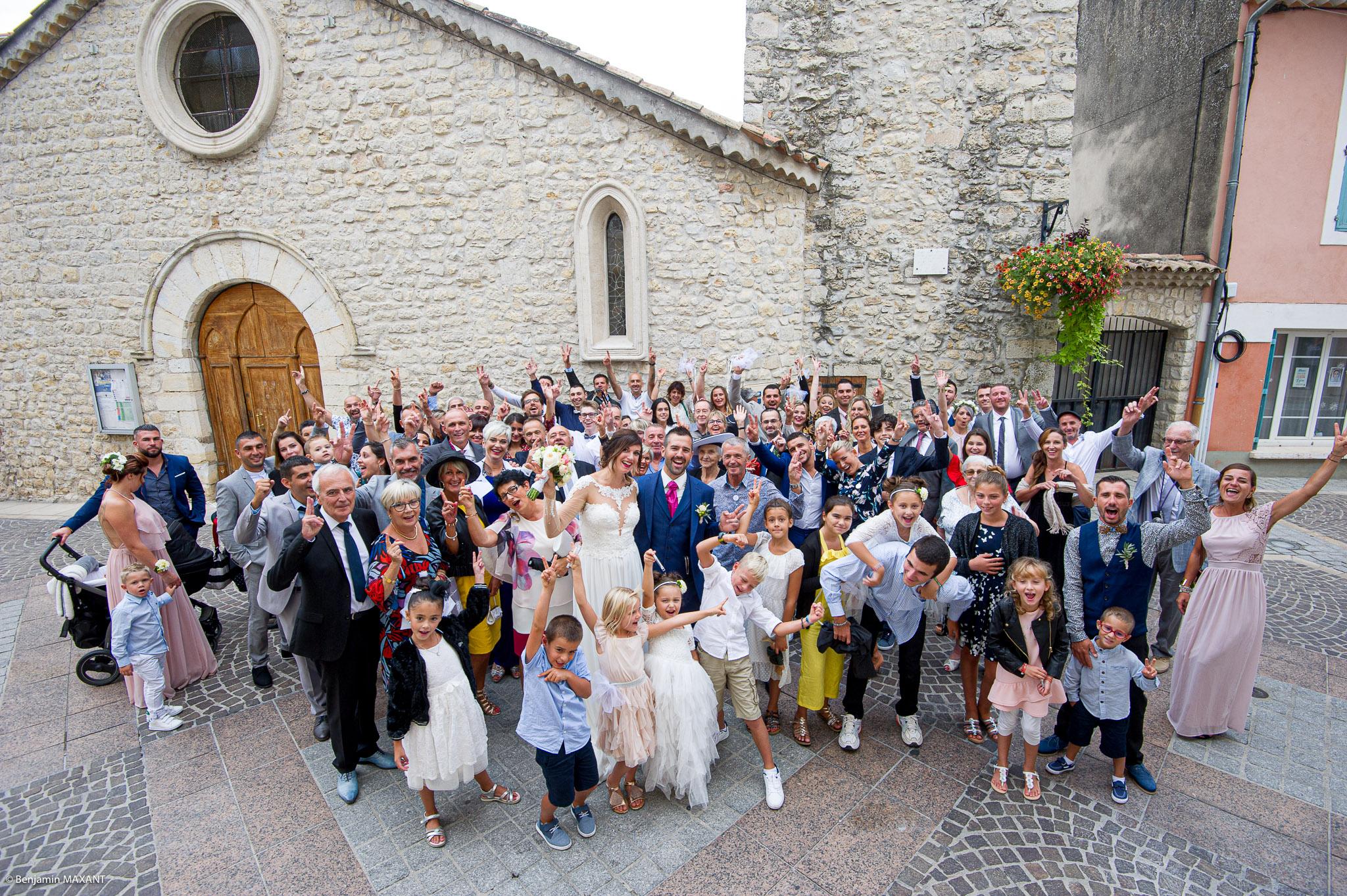 Photo de groupe à la mairie de Gréoux les Bains