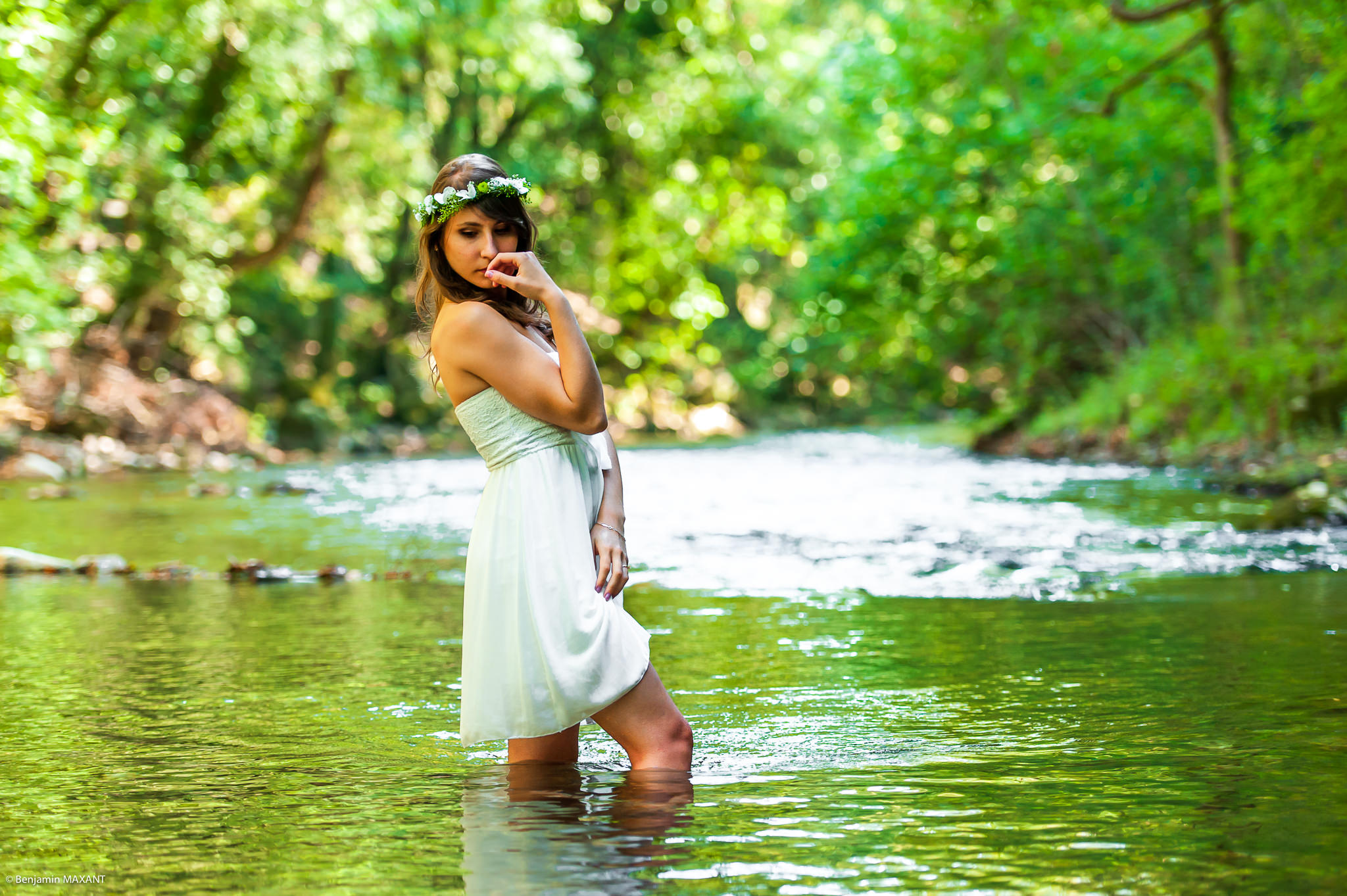 Sweet river photo shoot with Keky