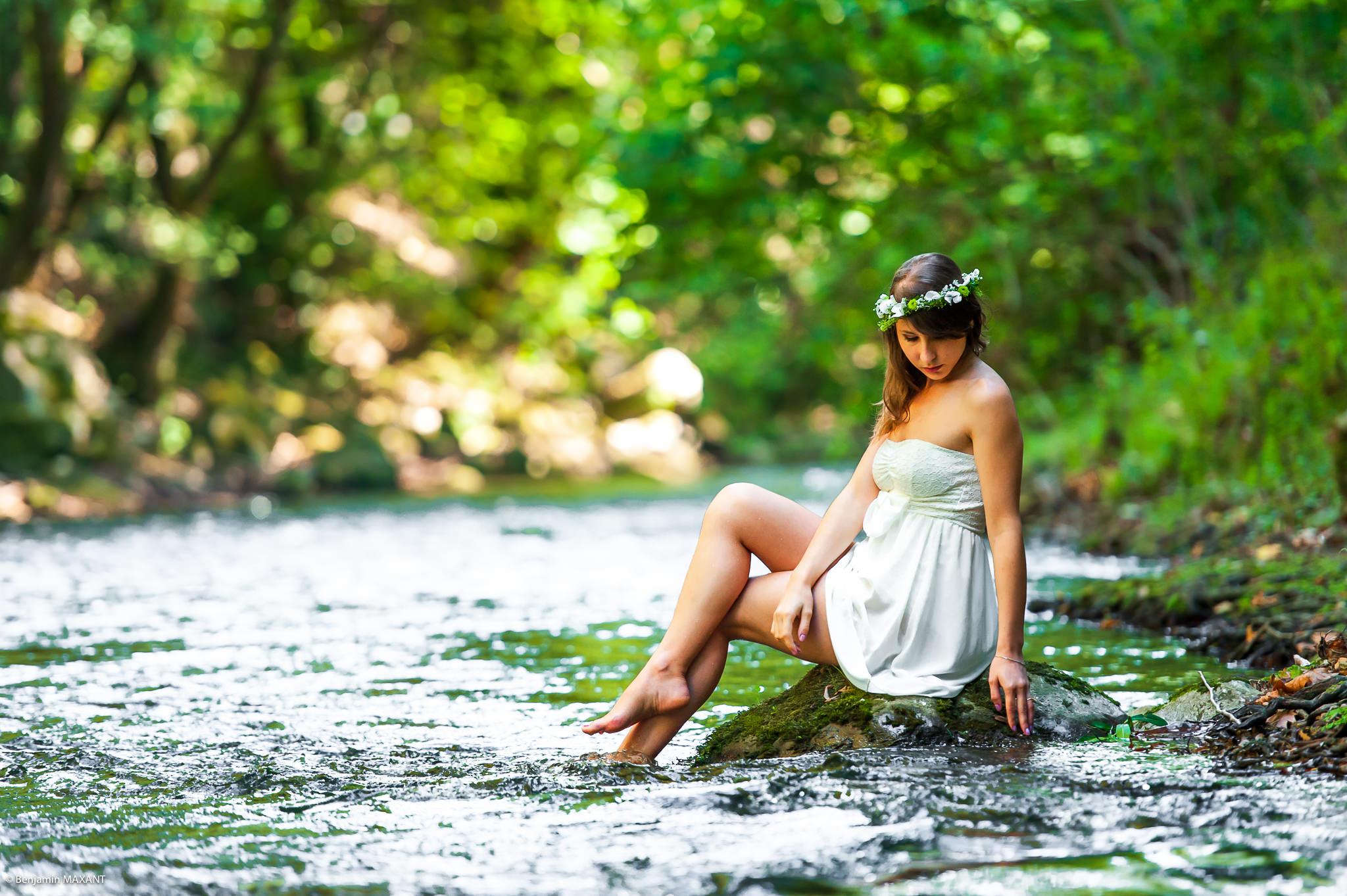 Séance photo rivière douceur avec Keky