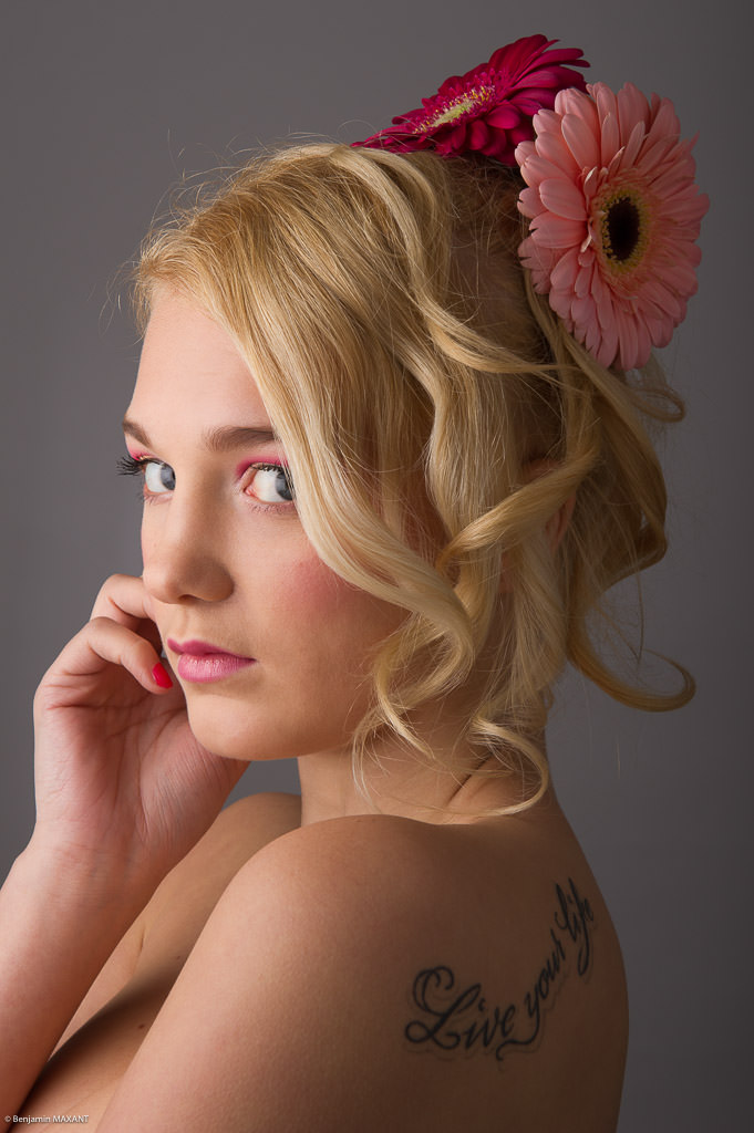 Séance photo makeup beauty en studio