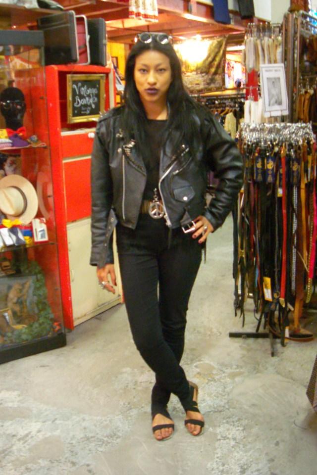 Goth Glamour Reigns On Vintage Fox