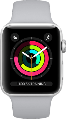 Apple Watch Series 4 44 mm (GPS+Cellular) Silver Aluminium Case with White Sport Band at £30.00 on Smartwatch (24 Month(s) contract) with UNLIMITEDMB of 4G data. £26.00 a month.
