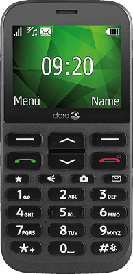 Doro 1370 (Black) at £24.99 on Pay As You Go Data Pack with 500 mins; UNLIMITED texts; 5000MB of 4G data. Extras: Top-up required: £15.
