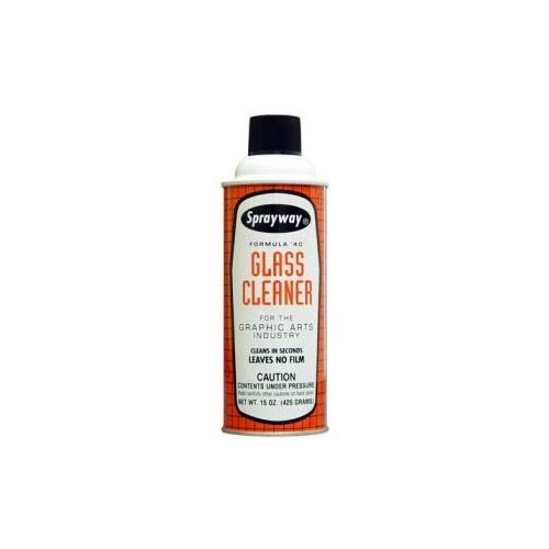 Sprayway Sw040 Formula 40 Glass Cleaner 15 Oz Can For The Graphic Arts Industry