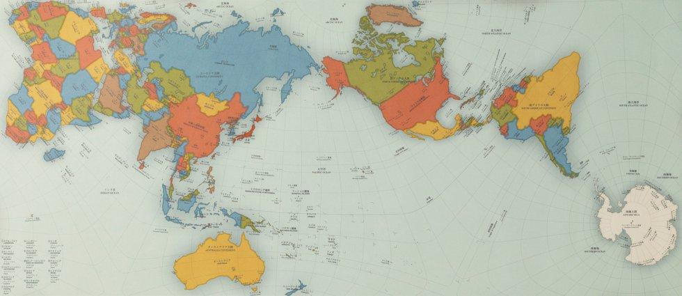 Mapa de Hajime Narukawa | AuthaGraph