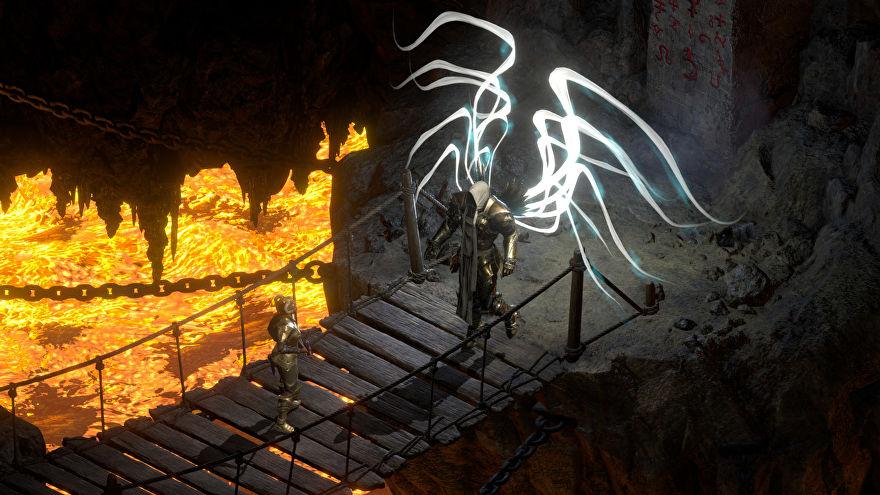 Diablo 2: Resurrected till PC och konsol under 2021. Ängeln Tyraels vingar från originalet.