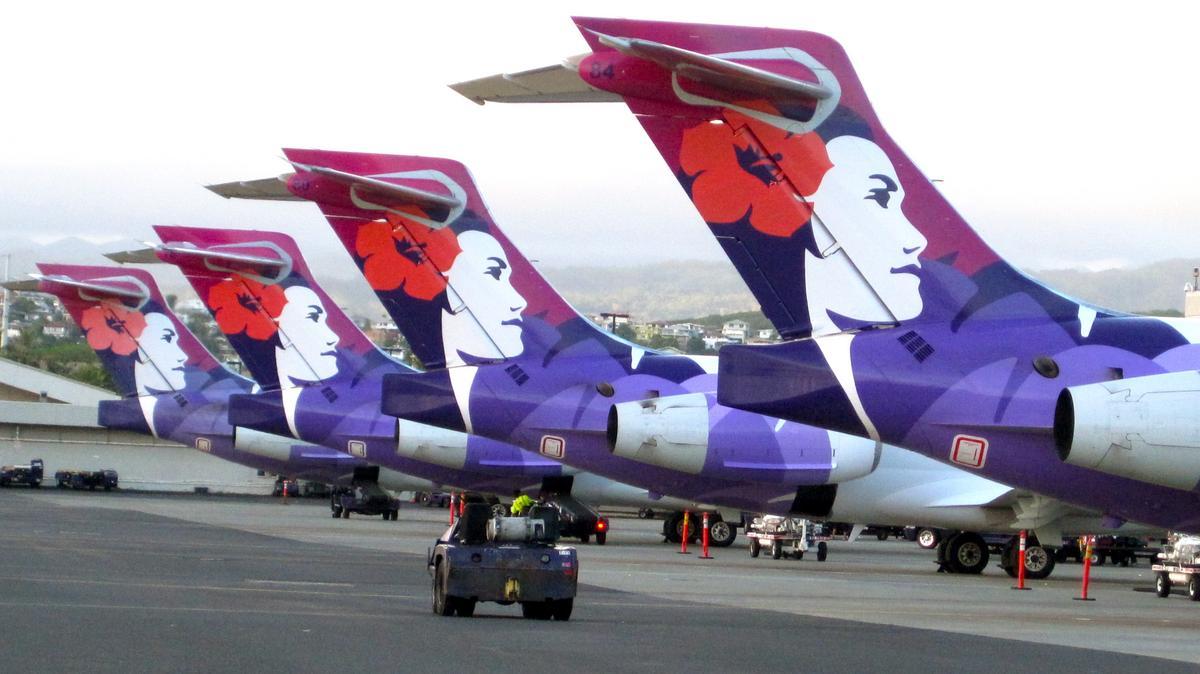 Resultado de imagen para hawaiian airlines Boeing 717