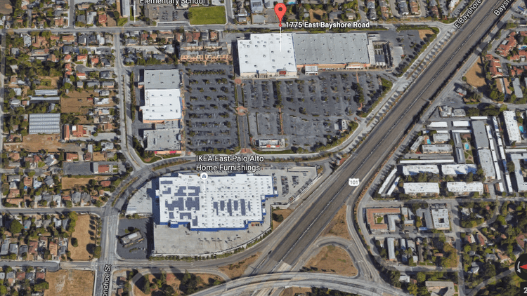 The site of the planned Target in East Palo Alto is in the Ravenswood 101 shopping center.