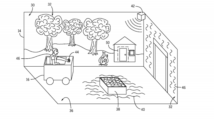 Previous patent submitted by Universal indicating new ride concept
