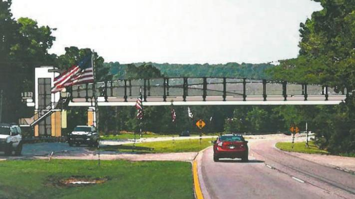 A rendering of a proposed pedestrian bridge over U.S. 31 in Vestavia Hills.