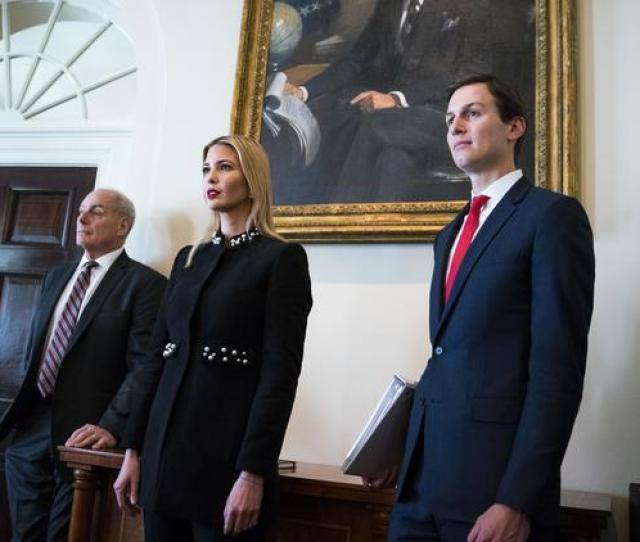 From Left White House Chief Of Staff John Kelly Ivanka Trump And White House