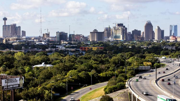 Langley & Banack Inc. offers a view of downtown San Antonio.