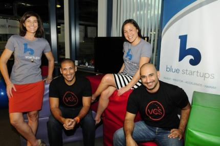 From left, Chenoa Farnsworth of Blue Startups, Tarik Sultan of Sultan Ventures, Meli James of Blue Startups and Omar Sultan of Sultan Ventures.