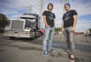 Viktor Radchinko, left, and Ivan Tsybaev built an app to pair truckers with shippers.  CEO: Ivan Tsybaev  Headquarters: Mountain View  Founded: October 2013  Employees: 2  Web: www.truckerpath.com  Phone: 347.549.5684