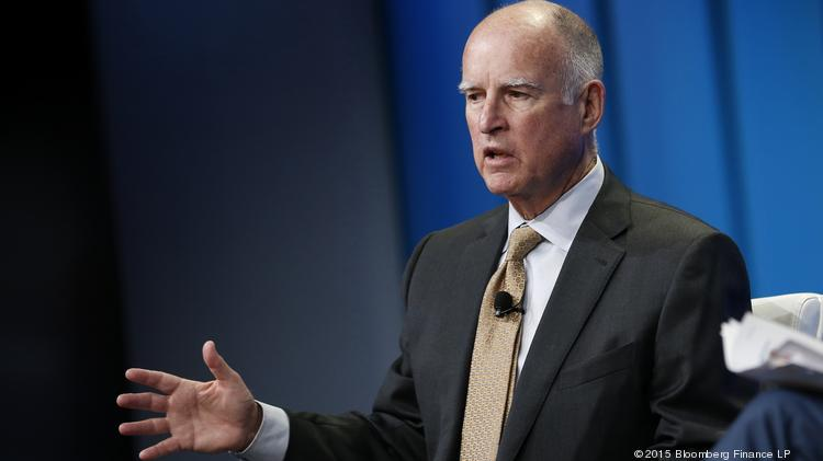 "In the 2016-17 budget, Gov. Jerry Brown and lawmakers affixed $400 million in affordable housing funding to a controversial ""by right"" housing plan. Photographer: Patrick T. Fallon/Bloomberg"