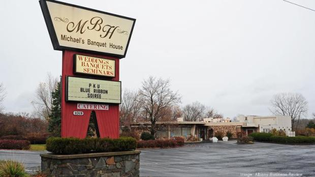 The four-acre property in Latham, New York, that includes Michael's Banquet House could be demolished to make way for an urgent care center and physician offices run by Albany Medical Center.