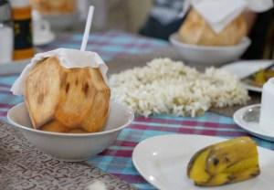 Det första målet, kokosnöt
