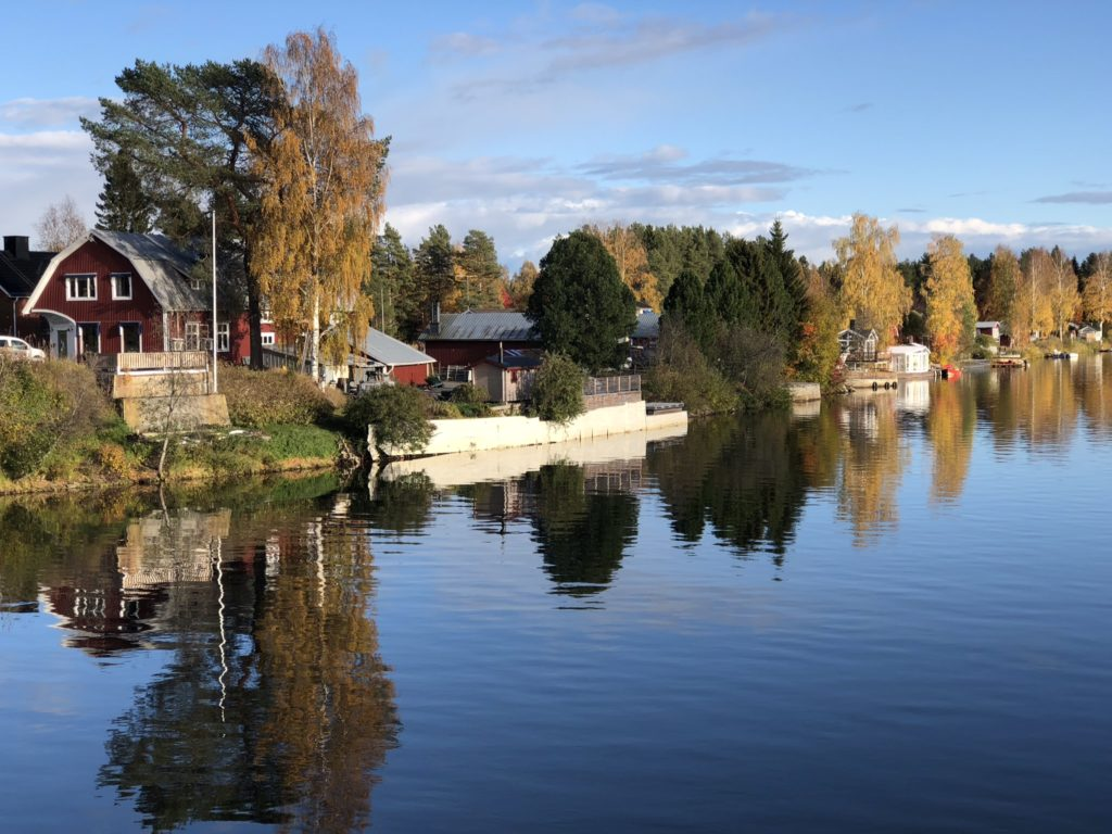 28 september - älvlandskapet vid Piteälven i Bölebyn.