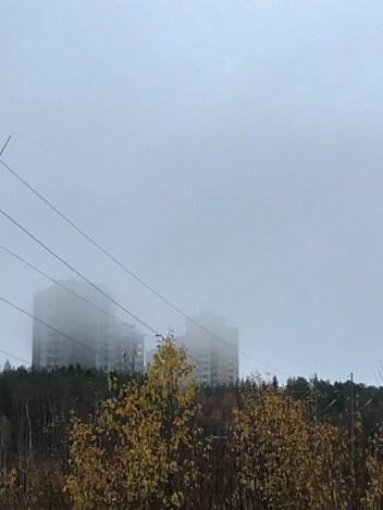 Dimman rullar in - av Eva