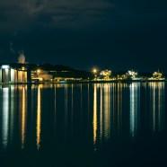 Kvällsvy mot industrin, Luleå -av Margareta