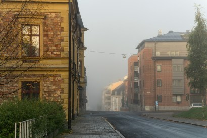 Stationsgatan, en tidig morgon -av Margareta