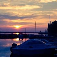 Sommarnatt i hamnen på Gultzaudden - Malin
