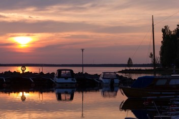 Solnedgång på Gultzaudden - Malin