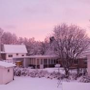 Lulsundet i rosa Decemberljus - av Malin