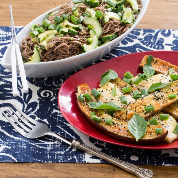 Seared Cod & Miso-Roasted Japanese Eggplant