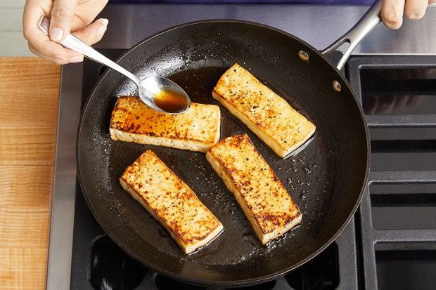 Cook the tofu & serve your dish: