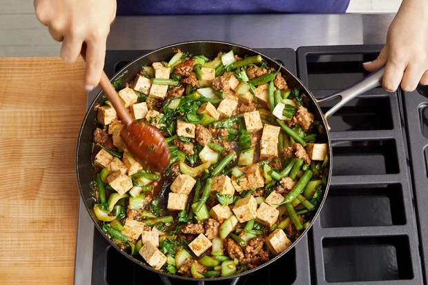 Make the mapo tofu: