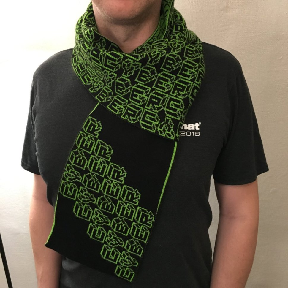 Machine-knit Cyber Scarf ships with its source code