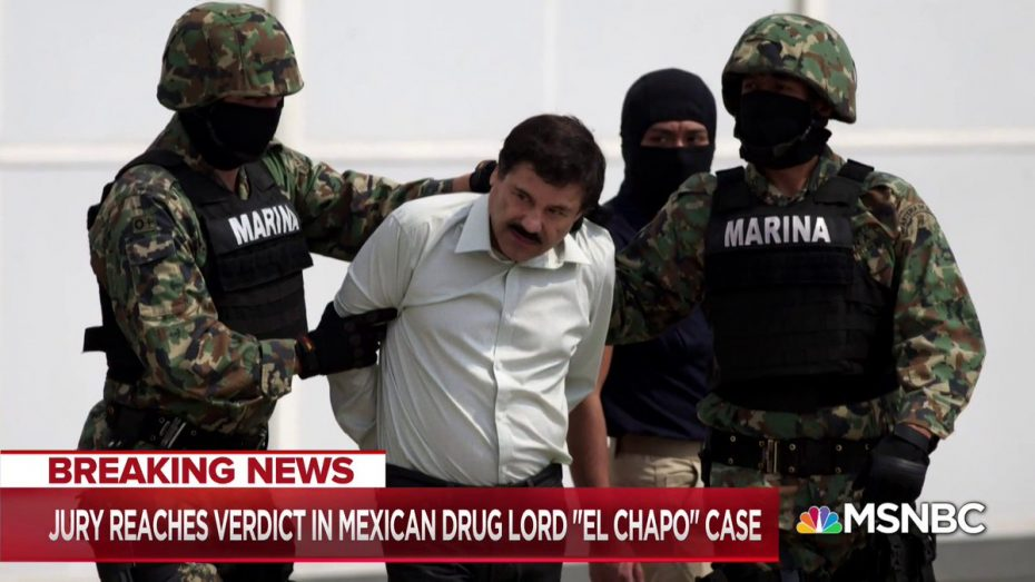 EL CHAPO GUILTY: Mexican drug lord Joaquin 'El Chapo' Guzman CONVICTED in U.S. trial