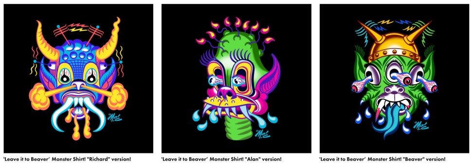 Monster shirts based on an episode of Leave it to Beaver