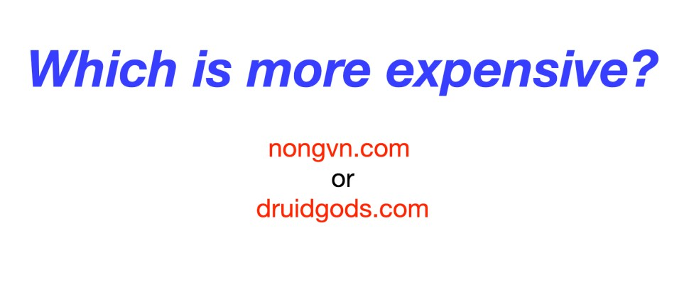 Weirdly compelling game: Which domain name is more expensive?