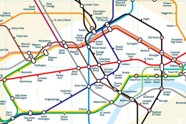 Geographically accurate Tube map Boing Boing