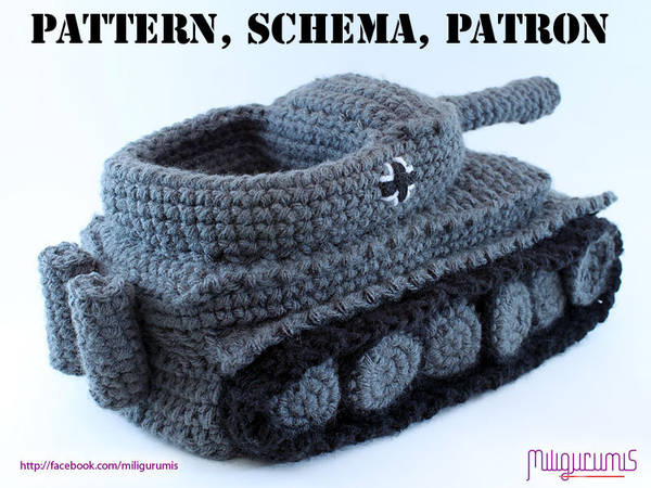 Pattern For Crocheted Panzer Tank Slippers Boing Boing