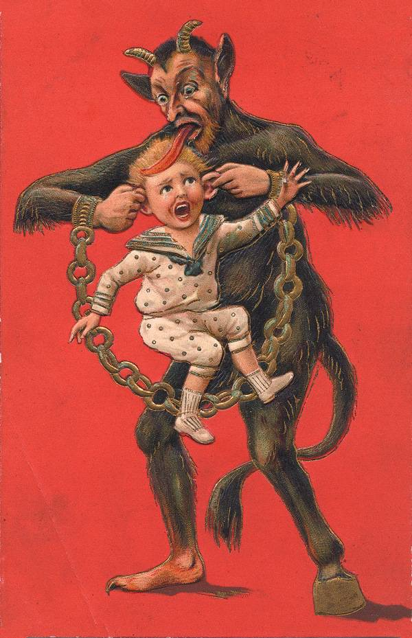 Krampus: The Devil of Christmas greeting cards / Boing Boing