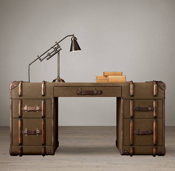 Furniture that looks like it s made from steamer trunks