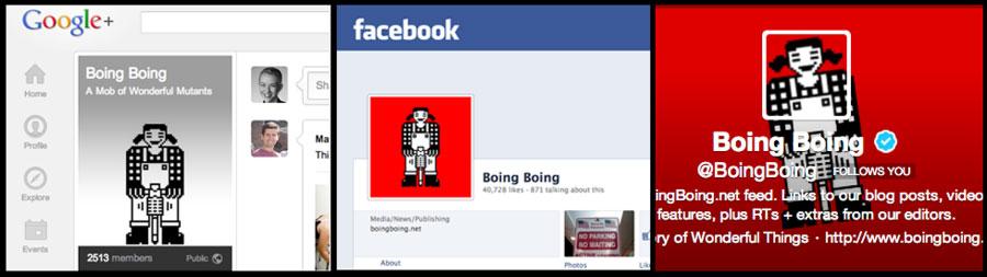 Boing Boing, on social media