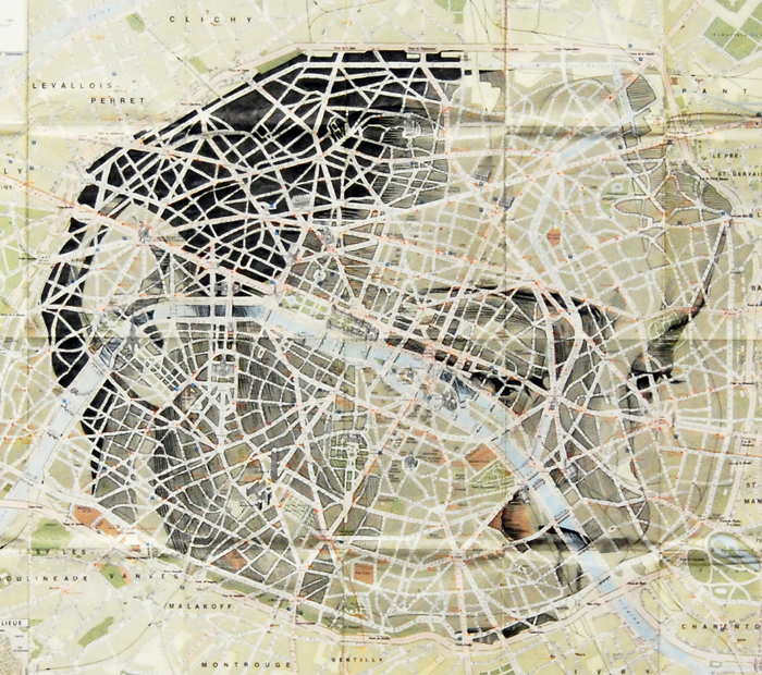 Artist finds the faces lurking in maps
