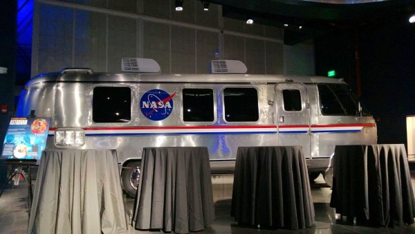 The display includes more space shuttle history, such as the astrovan which took astronauts to (and in the case of a scrub from) the launch pad.
