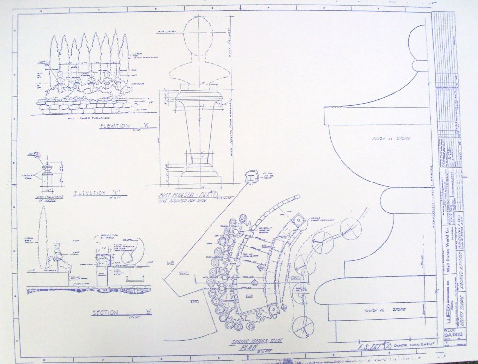 Haunted Mansion blueprints for sale / Boing Boing