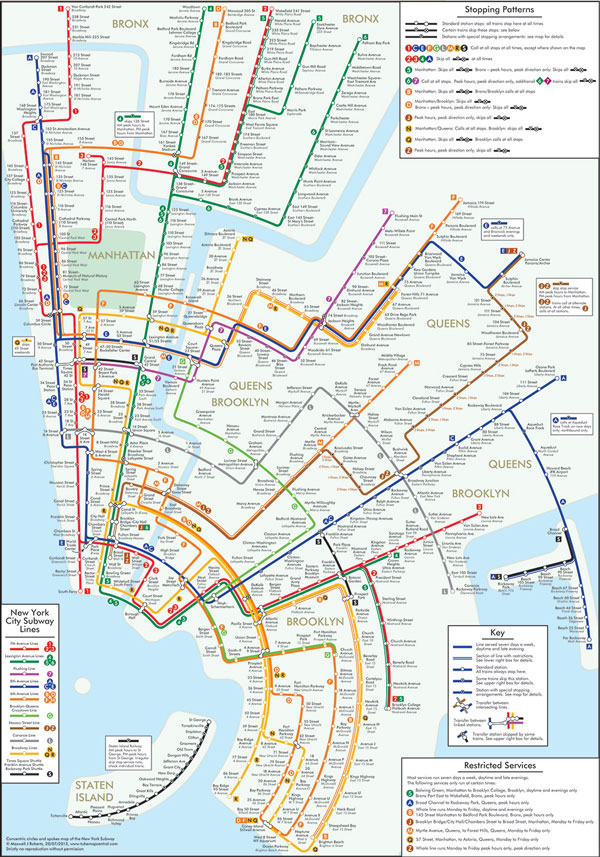 Brilliant New York Subway Map Boing: Nyc Subway Map For Dummies At Usa Maps