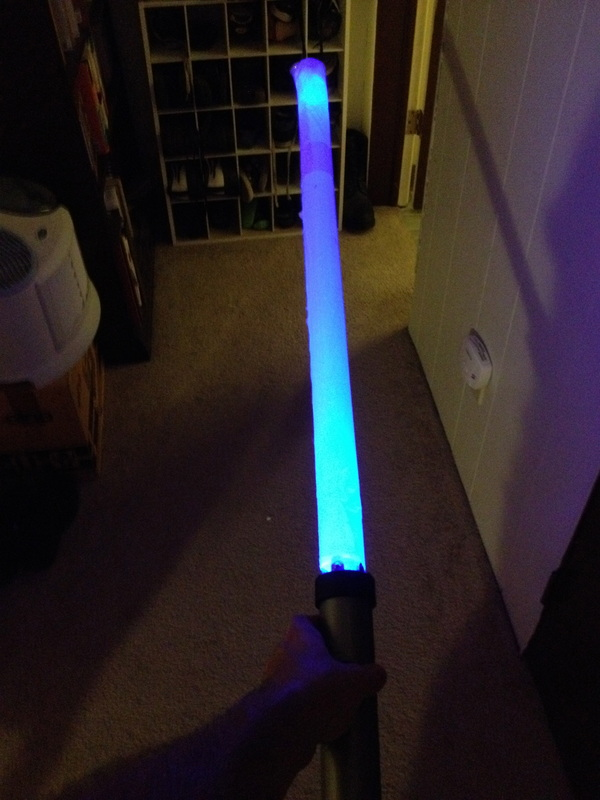 Quick kid's science project: lightsaber prop